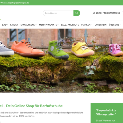 Zehenspiel Online Shop Ecommerce Woocommerce Agentur Online Marketing